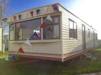 Cheap 2 bed 12Ft wide FREE 2017 site fees static caravan Clacton Essex Suffolk Kent Sussex Norfolk