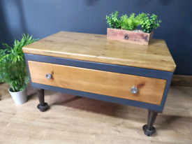 Industrial Style Chunky Coffee table with drawer