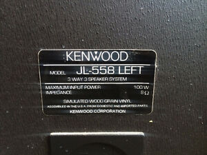 Kenwood Floor Tower Speakers - 100W 3Way Speaker - JL-558 Kitchener / Waterloo Kitchener Area image 2