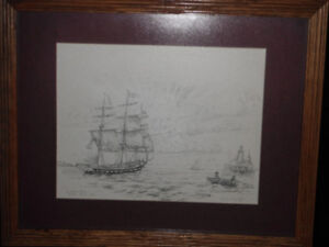 A.R. Cooke Signed and Numberd Print Of The Marco Polo Leaving