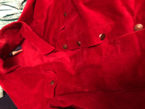 Red corduroy jacket size large never worn brand new asking $7