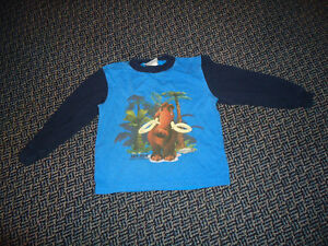 Boys Size 5 Ice Age Long Sleeve T-Shirt