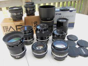 Nikon Nikkor lenses  50, 55micro