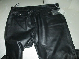 "LADIES GENUINE SOFT LEATHER ""ECCO"" PANTS~SIZE 16~NEW"