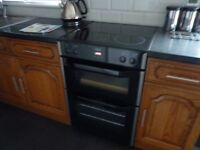 Belling CFE60MFTC Ceramic Hob Electric Double Oven With Cracked Hob 4 Months Old