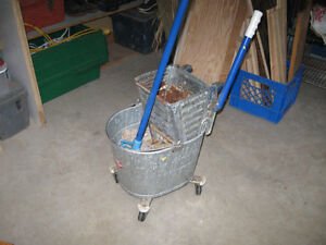 white brand industrial mop bucket
