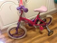 "Kids Bike - Girls Kid Cool bike (14"") with Stabilizers"