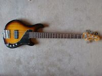 Squier Dimension Deluxe V bass guitar. 5 string goodness. Condition as new.