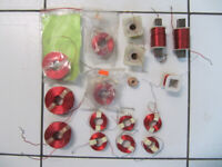 Classic 17pc Lot Of Passive Audio X-Over Coils .2MH to 3MH 1980s