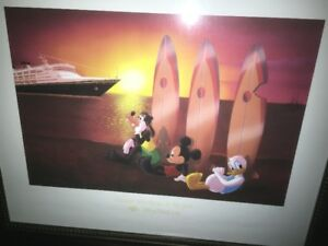 For Sale: Large Disney Cruise Lines Framed Picture