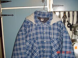 QUITED,FLANNEL HOODED SHIRT