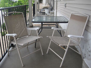 3 Piece Beige Patio Set