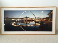 Print of Newcastle upon Tyne by night Rrp£150