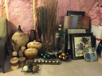 Framed art / Candles/holders / vases / Home accents
