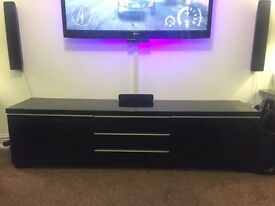 IKEA black gloss tv unit