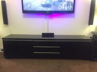 IKEA black gloss tv unit