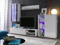 High Gloss Living Room Furniture Set TV Unit Cabinet Cupboard