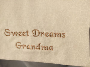 Luxurious Gift for Grandma:  New, custom-made, silky pillowcase
