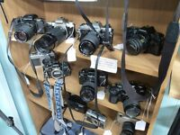 Cameras -ALL TYPES- 35MM, 120, 1/4 PLATE, SLR, FOLDING, RANGEFINDER, BOX, POLAROID, LEICA, NIKON