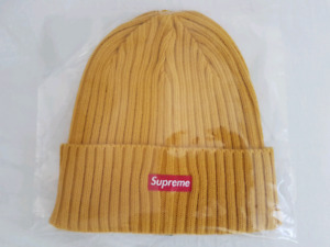 Supreme Overdyed Ribbed Beanie, Washed Gold SS18