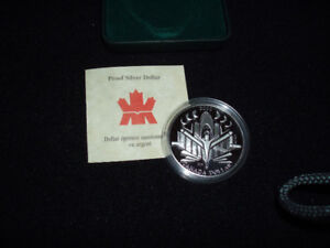 2000 Canadian Proof Silver Dollar