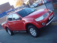 2012 12 PLATE Mitsubishi L200 2.5DI-D 4WD Double Cab Pickup Trojan in Red