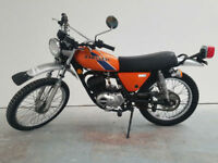 1976 Kawasaki KE175 Orange Import 3,254 Miles Classic Trails Motorcycle