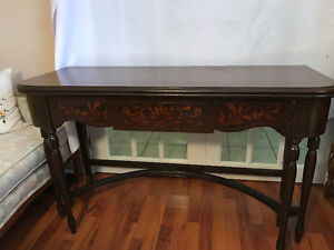 Antique flip top desk/table