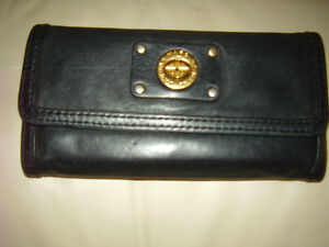 Marc By Marc Jacobs Calfskin Black Leather Wallet Rare