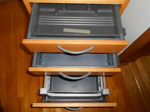 DRAWER UNIT/ DROP FILE STORAGE ON CASTER