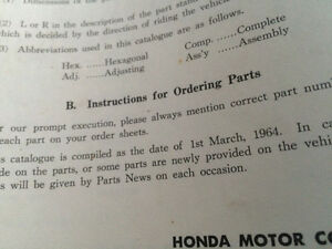 1963 Honda 50 55 Parts List Regina Regina Area image 2