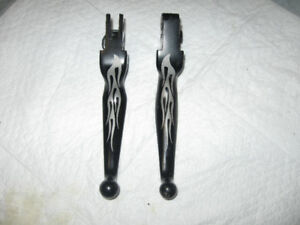 Harley-Davidson Hand Control Levers Black&Silver Flames