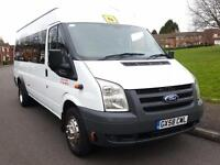 Ford TRANSIT 17 SEATER MINIBUS + DIESEL + MANUAL + TWIN WHEELS + HIGH ROOF