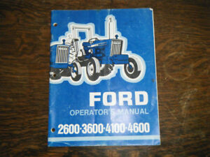 Ford Tractor 2600 3600 4100 4600 Operators Manual Business, Office & Industrial Tractor Manuals & Publications To Assure Years Of Trouble-Free Service