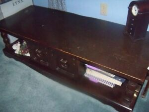 Coffee Table and 2 End Tables, Solid Wood, Good Cond, etc.