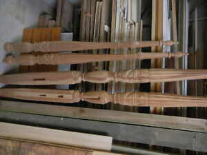 Hand Carved Cherry Rice Bed Legs - Some Wood Work Required Kitchener / Waterloo Kitchener Area image 10