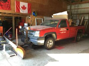 2003 Chevrolet Silverado 2500 HD Diesel Pickup Truck Plow