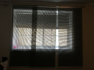 IKEA slider blinds and track