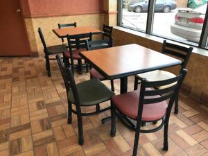 Subway Restaurant Kitchen and Furniture