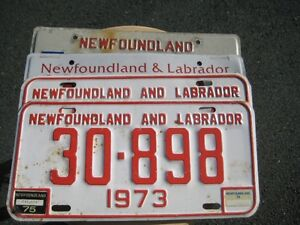 For Sale 4 Newfoundland License Plates