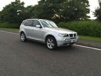 BMW X3 2 litre diesel Sport. 4 Wheel Drive 4x4
