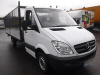MERCEDES SPRINTER 313 CDI LWB 16FT CAGED DROPSIDE, White, Manual, Diesel, 2013