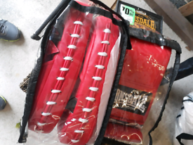 Lonsdale boxing gloves and hit pads