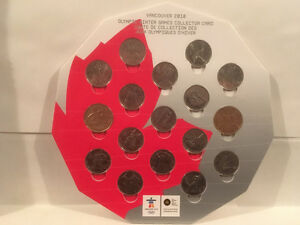17 Coins Set 2010 Vancouver Olympics