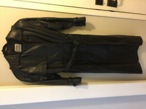 Leather coat soft leather full length