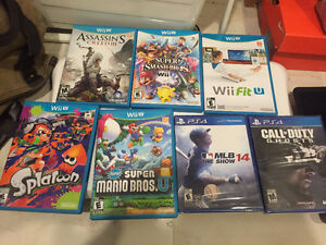 PS 4 games & Wii U games (Call of Duty, MLB 14)