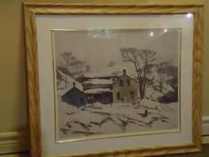 FS: Valley Farm Lithograph by A.J. Casson (one of the group of 7