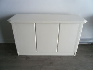 LARGE WHITE CREDENZA / BUFFET FOR SALE