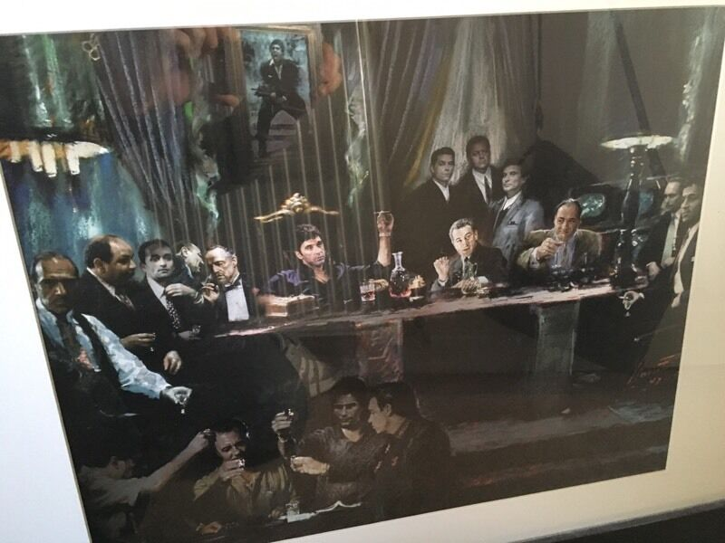 Gangsters last supper framed picture | in Swindon, Wiltshire | Gumtree