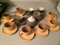 Espresso cups/saucers/sugar and milk cups